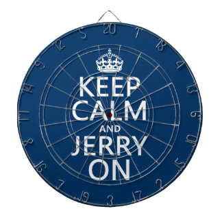 Behalten Sie Ruhe und Jerry auf (irgendeine Farbe) Dartscheibe