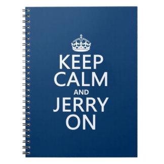 Behalten Sie Ruhe und Jerry auf (irgendeine Farbe) Spiral Notizblock