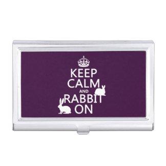 Behalten Sie Ruhe und Kaninchen an - alle Farben Visitenkarten Dose