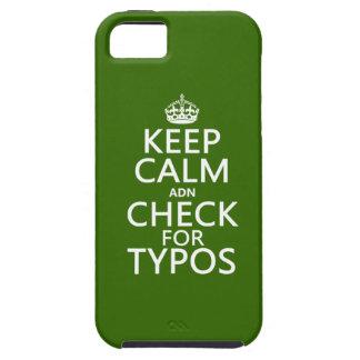 """Behalten Sie Ruhe """"und"""" Karo für Typos (in Etui Fürs iPhone 5"""