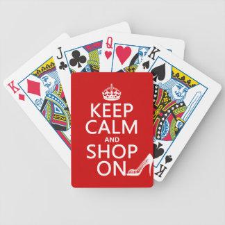 Behalten Sie Ruhe und kaufen Sie an - alle Farben Bicycle Spielkarten