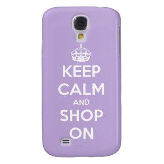 Behalten Sie Ruhe und kaufen Sie auf Lavendel Galaxy S4 Hülle