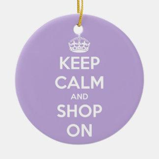 Behalten Sie Ruhe und kaufen Sie auf Lavendel Keramik Ornament