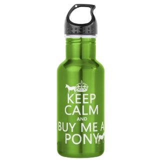 Behalten Sie Ruhe und kaufen Sie mich ein Pony Edelstahlflasche