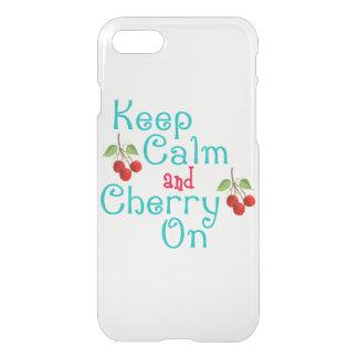Behalten Sie Ruhe und Kirsche auf iPhone Clearly™ iPhone 8/7 Hülle