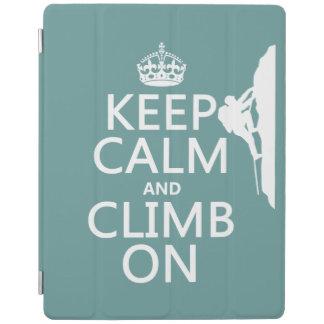 Behalten Sie Ruhe und klettern Sie auf iPad Hülle