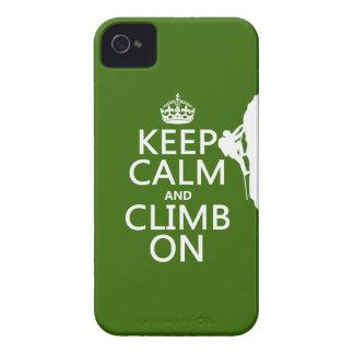 Behalten Sie Ruhe und klettern Sie auf iPhone 4 Case-Mate Hülle