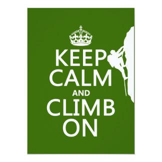 Behalten Sie Ruhe und klettern Sie auf Karte