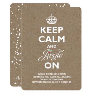 Behalten Sie Ruhe-und Klingel-rustikales Karte