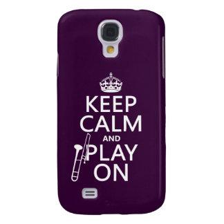 Behalten Sie Ruhe und Knochen auf (Trombone) Galaxy S4 Hülle