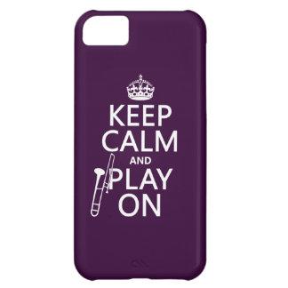 Behalten Sie Ruhe und Knochen auf (Trombone) iPhone 5C Hülle