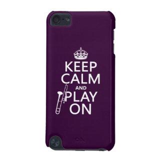 Behalten Sie Ruhe und Knochen auf (Trombone) iPod Touch 5G Hülle
