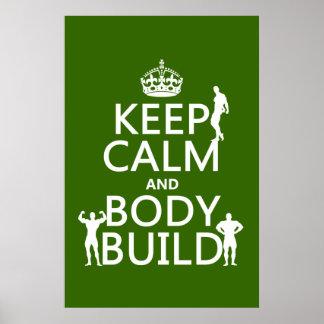 Behalten Sie Ruhe-und Körper-Gestalt (fertigen Sie Plakatdruck