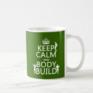 Behalten Sie Ruhe-und Körper-Gestalt Kaffeetasse