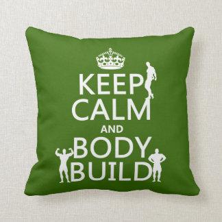 Behalten Sie Ruhe-und Körper-Gestalt Kissen