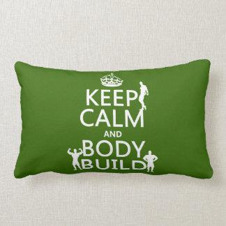 Behalten Sie Ruhe-und Körper-Gestalt Lendenkissen
