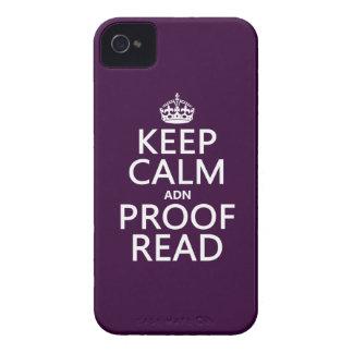 """Behalten Sie Ruhe """"und"""" Korrektur gelesen (ADN) iPhone 4 Case-Mate Hülle"""
