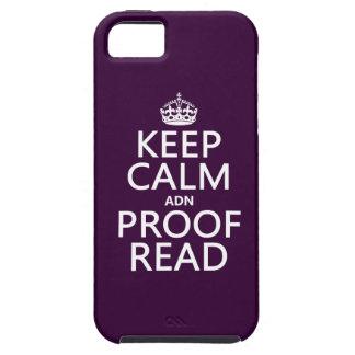 """Behalten Sie Ruhe """"und"""" Korrektur gelesen (ADN) iPhone 5 Case"""