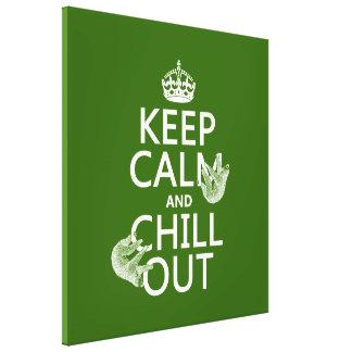 Behalten Sie Ruhe und kühlen Sie heraus (Sloth) Leinwanddruck