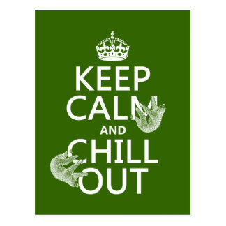 Behalten Sie Ruhe und kühlen Sie heraus (Sloth) Postkarte