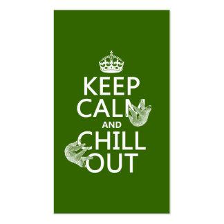 Behalten Sie Ruhe und kühlen Sie heraus (Sloth) Visitenkarten