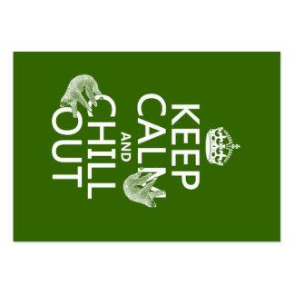 Behalten Sie Ruhe und kühlen Sie heraus (Sloth) Mini-Visitenkarten