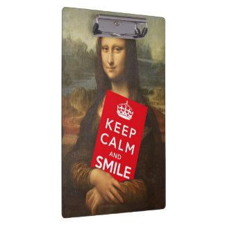 Behalten Sie Ruhe und lächeln Sie