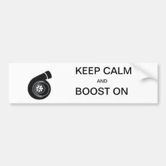 Behalten Sie Ruhe und laden Sie an - Autoaufkleber
