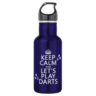 Behalten Sie Ruhe und lassen Sie uns Pfeile Trinkflasche