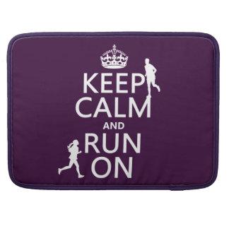 Behalten Sie Ruhe und laufen Sie auf MacBook Pro Sleeve