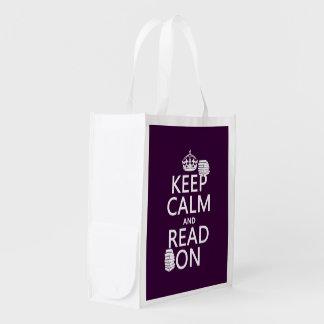 Behalten Sie Ruhe und lesen Sie auf (in Wiederverwendbare Einkaufstasche