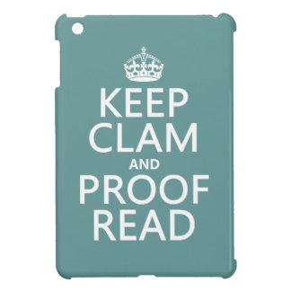 Behalten Sie Ruhe und lesen Sie Korrektur iPad Mini Hülle