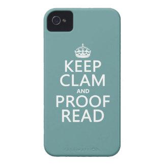 Behalten Sie Ruhe und lesen Sie Korrektur iPhone 4 Hüllen