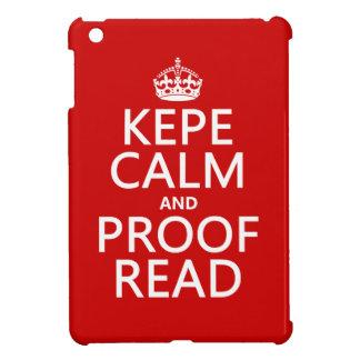Behalten Sie Ruhe und lesen Sie Korrektur (kepe) iPad Mini Hülle