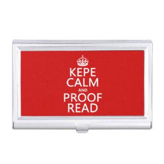 Behalten Sie Ruhe und lesen Sie Korrektur (kepe) Visitenkarten Dose