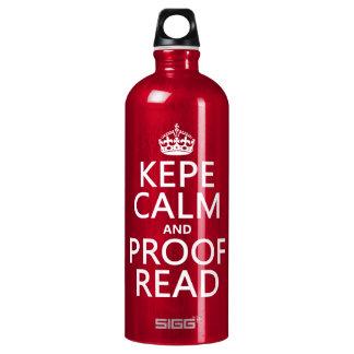 Behalten Sie Ruhe und lesen Sie Korrektur (kepe) Wasserflasche