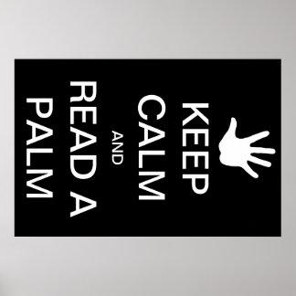 """""""Behalten Sie Ruhe und lesen Sie meine Palmen-"""" Poster"""