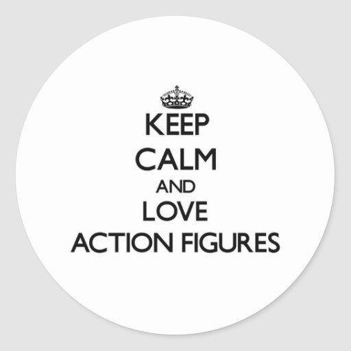 Behalten Sie Ruhe und Liebe Aktions-Zahlen Runde Sticker