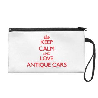 Behalten Sie Ruhe und Liebe antike Autos