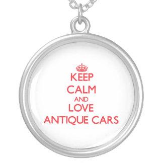 Behalten Sie Ruhe und Liebe antike Autos Personalisierte Halskette