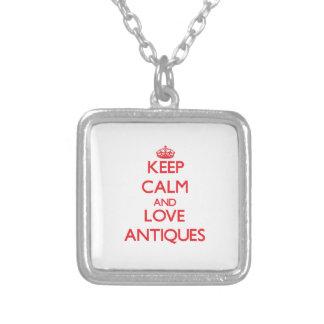 Behalten Sie Ruhe und Liebe Antiken Personalisierter Schmuck