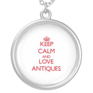 Behalten Sie Ruhe und Liebe Antiken Halskette