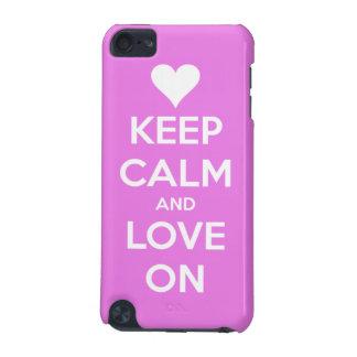 Behalten Sie Ruhe und Liebe auf Rosa iPod Touch 5G Hülle
