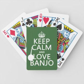 Behalten Sie Ruhe-und Liebe-Banjo (irgendeine Bicycle Spielkarten