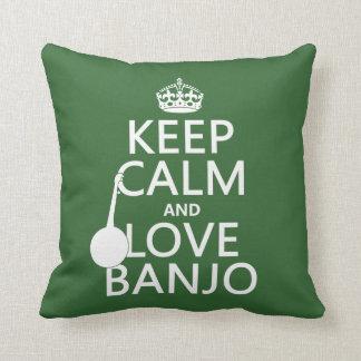 Behalten Sie Ruhe-und Liebe-Banjo (irgendeine Kissen