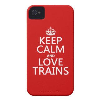 Behalten Sie Ruhe und Liebe bildet aus iPhone 4 Case-Mate Hülle