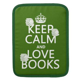Behalten Sie Ruhe und Liebe bucht (in irgendeiner iPad Sleeve