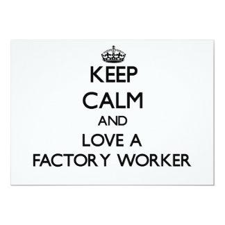 Behalten Sie Ruhe und Liebe ein Arbeiter Personalisierte Einladungen