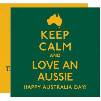 Behalten Sie Ruhe und Liebe ein Australier! Karte
