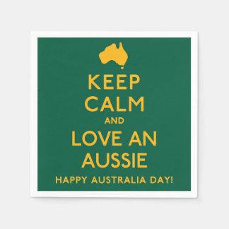 Behalten Sie Ruhe und Liebe ein Australier! Papierserviette